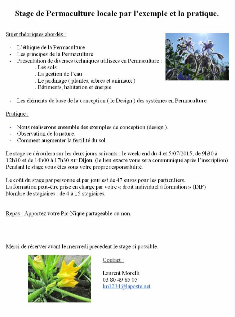 stage juillet permaculture