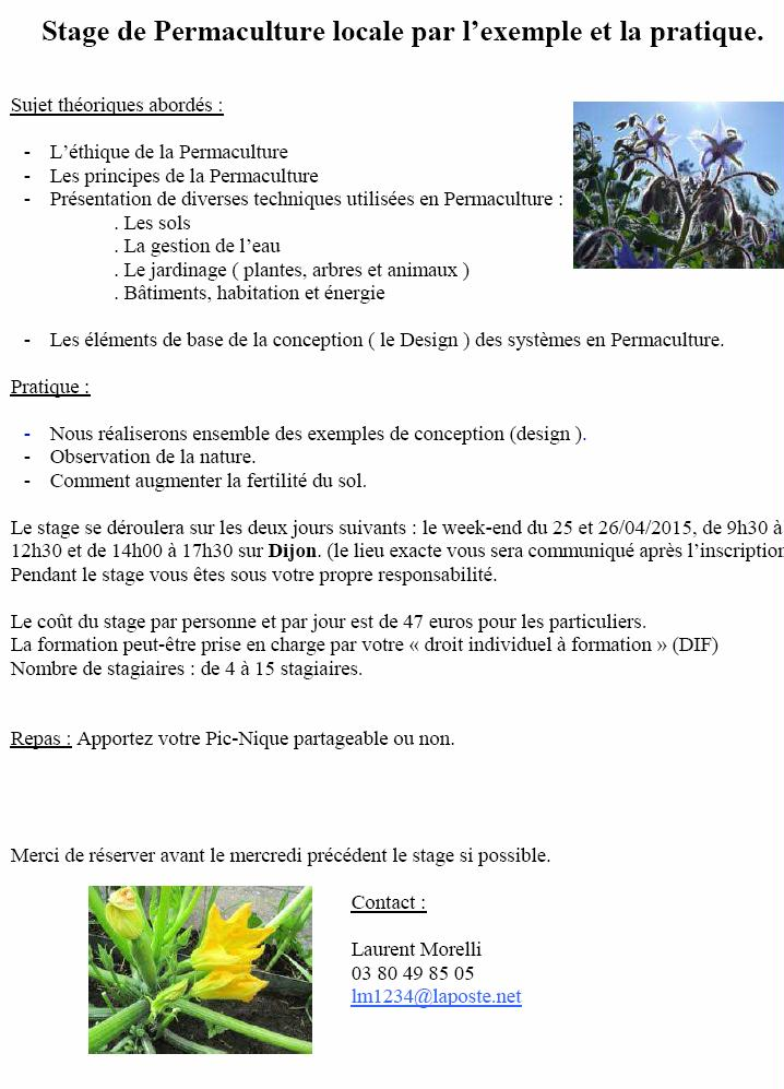 stage permaculture avril 2015